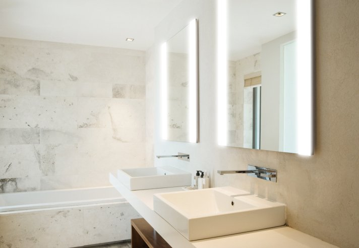 Brighter Bathrooms. Illuminated Bathroom Mirrors