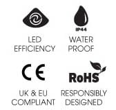 IP44 rated UK and EU compliant